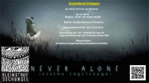 Never alone SpieleNacht